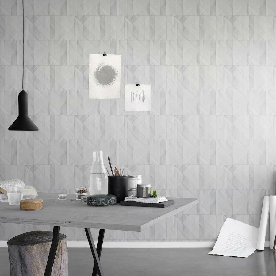 Tienda online telas papel papel pared papeles gris - Papel decorado para paredes ...