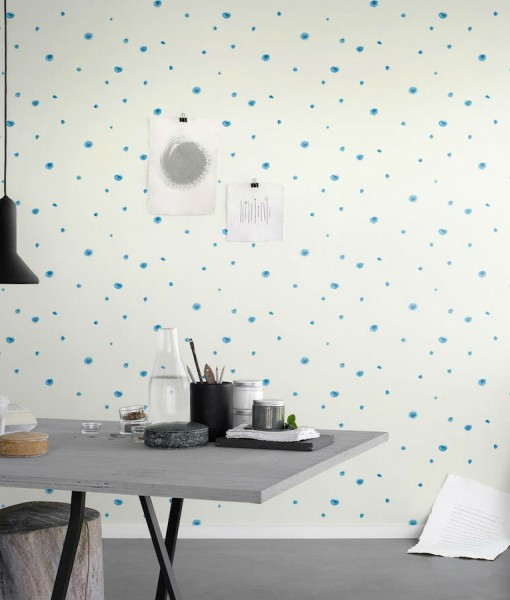 Tienda online telas papel papel pintado acuarelas azul for Papel pintado azul