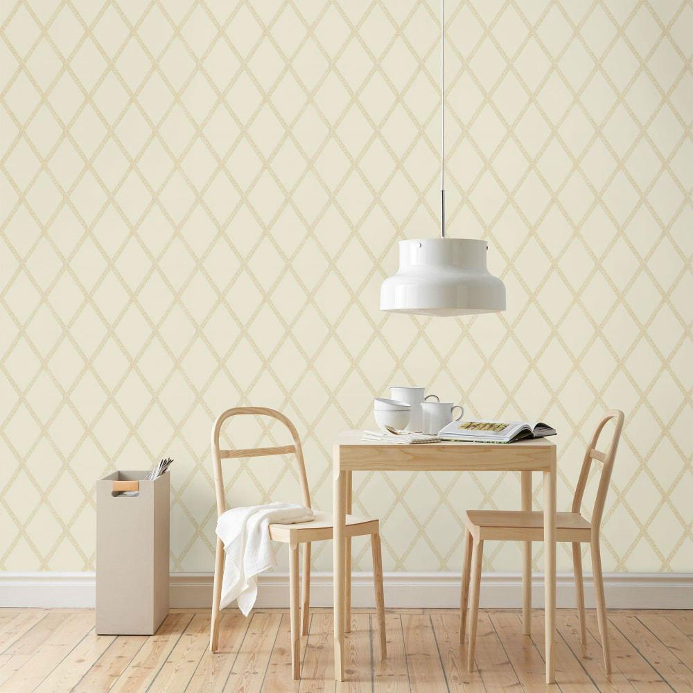 Tienda online telas papel papel pintado enrejado for Papel pintado dorado