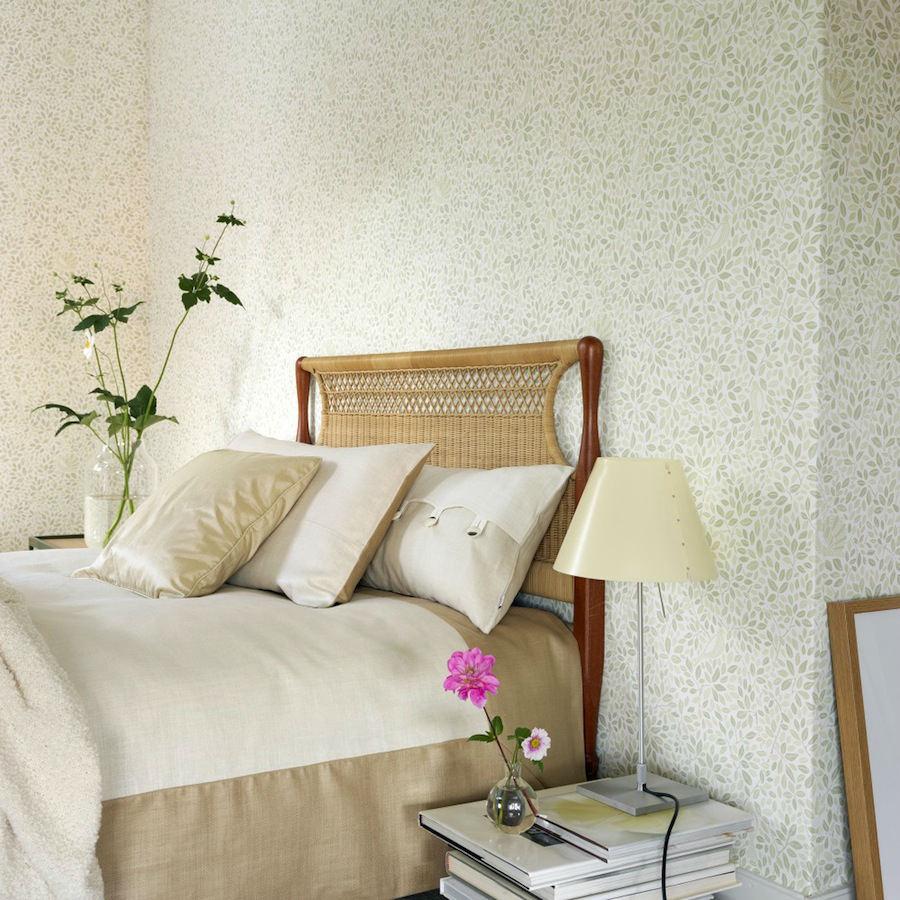 Tienda online telas papel papel pintado p jaros ivan verde - Papel pintado verde ...