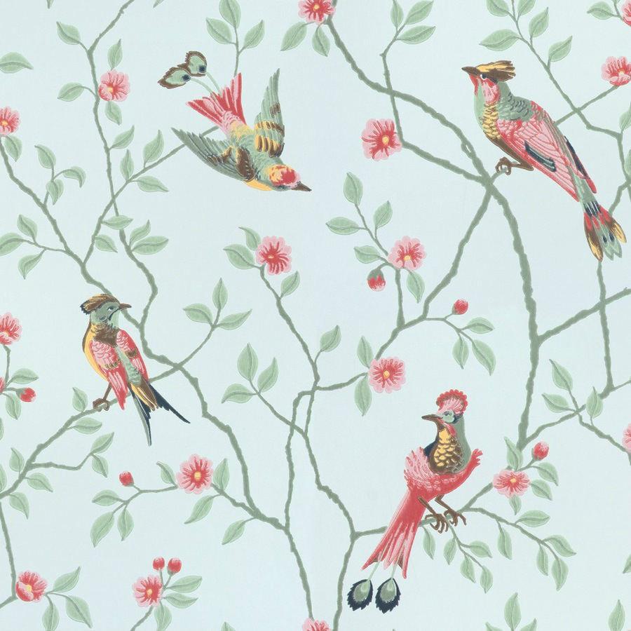 Tienda online telas papel papel pintado p jaros for De papel pintado