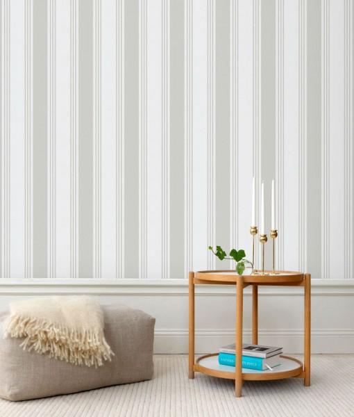 Tienda online telas papel papel pared rayas sara gris for Papel pintado rayas grises