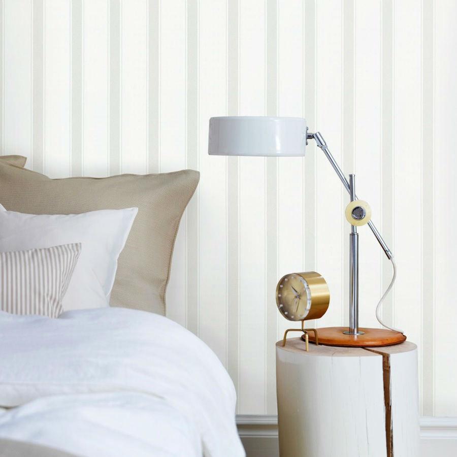 Tienda online telas papel papel pintado rayas elena gris - Papel pintado online ...
