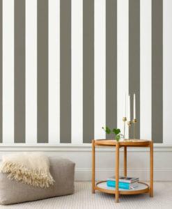 Tienda online telas papel papel pintado rayas for Papel pintado marron oscuro