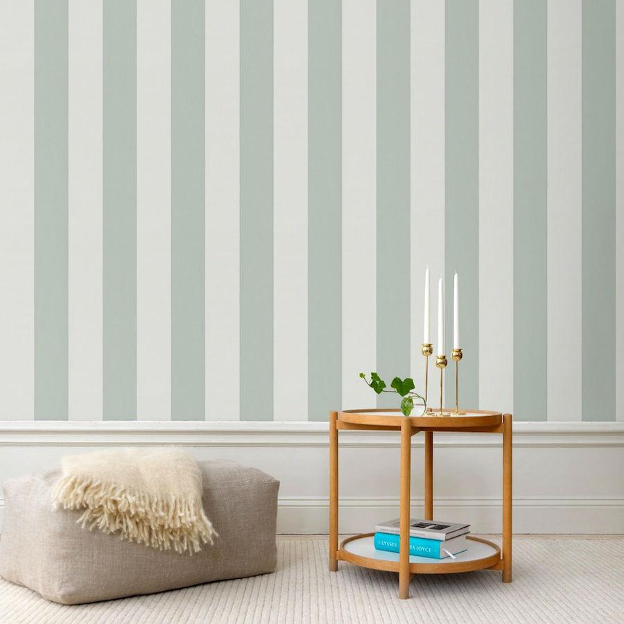 Tienda online telas papel papel pintado rayas magnus - Papel pintado turquesa ...