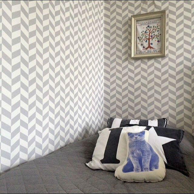 Tienda online telas papel angulo gris y blanco for Dormitorios pintados en gris