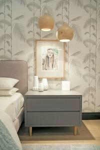 papel pintado palmeras plata