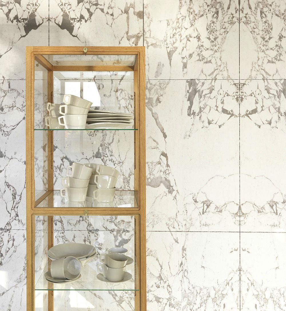 Tienda online telas papel papeles pintados que parecen for Marmol blanco real