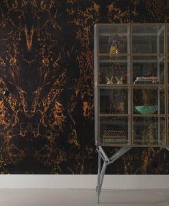 papel marmol negro metalizado espejo