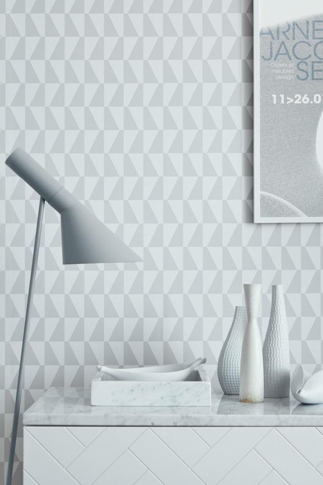 Tienda online telas papel papel pintado geom trico for Murales de papel pintado