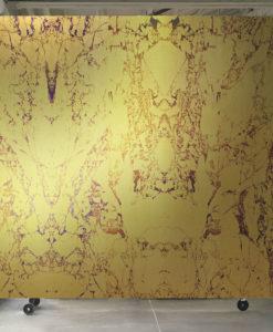 papel pintado marmol dorado metalizado