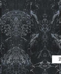 papel-pintado-marmol-negro sin juntas espejo