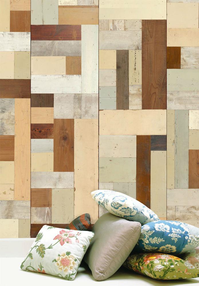 Tienda online telas papel papel pared puzzle maderas - Papel pared online ...