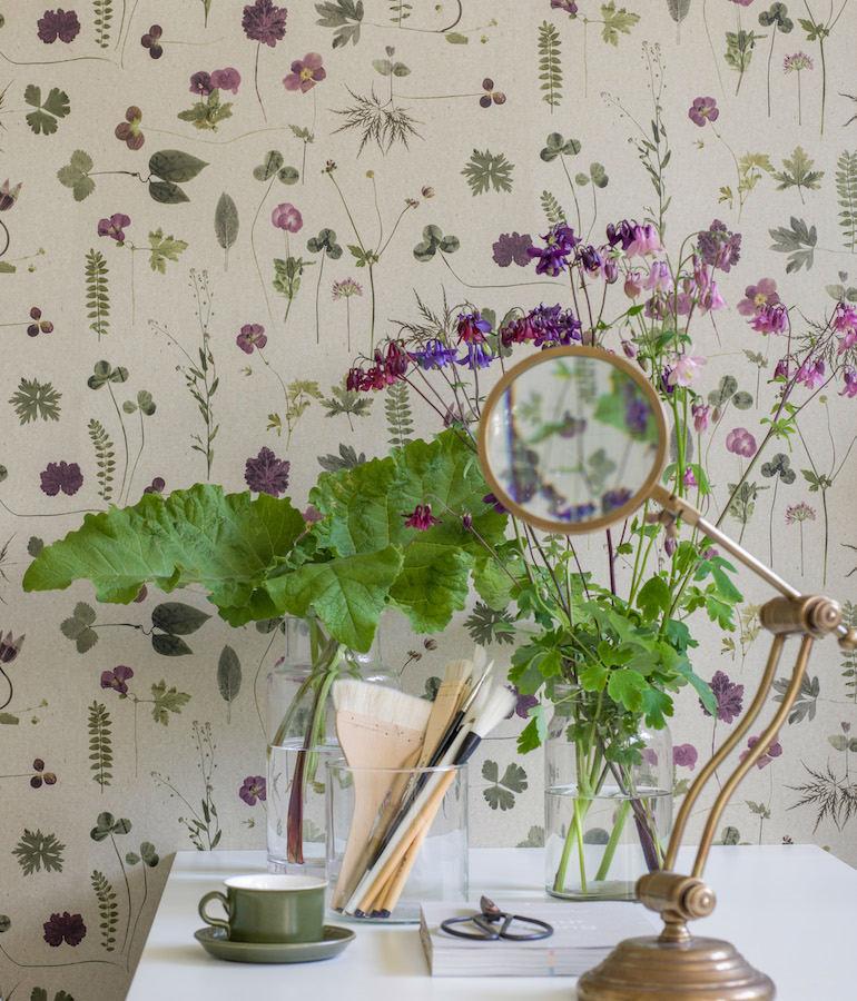Tienda online telas papel papel pintado botanica - Papel pintado para comedor ...
