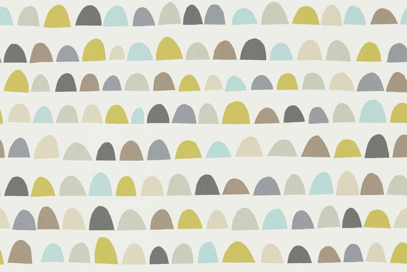 Tienda online telas papel papel pared media luna gris - Papel pared gris ...