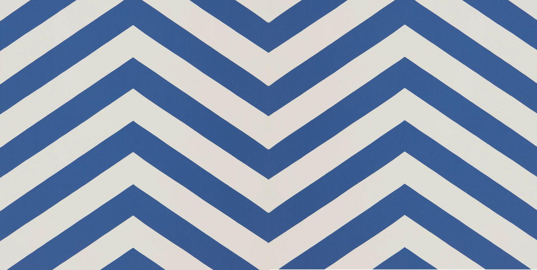 Tienda online telas papel papel pared rayas zigzag azul - Papel pared lavable ...