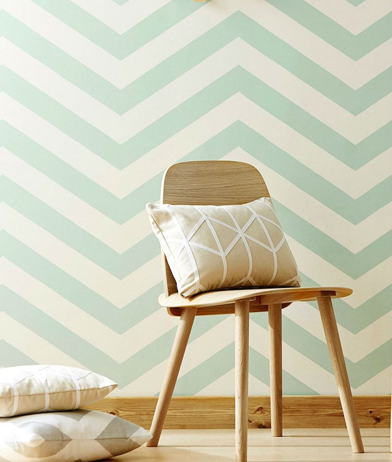 Tienda online telas papel papel pared rayas zigzag for Papel de pared blanco