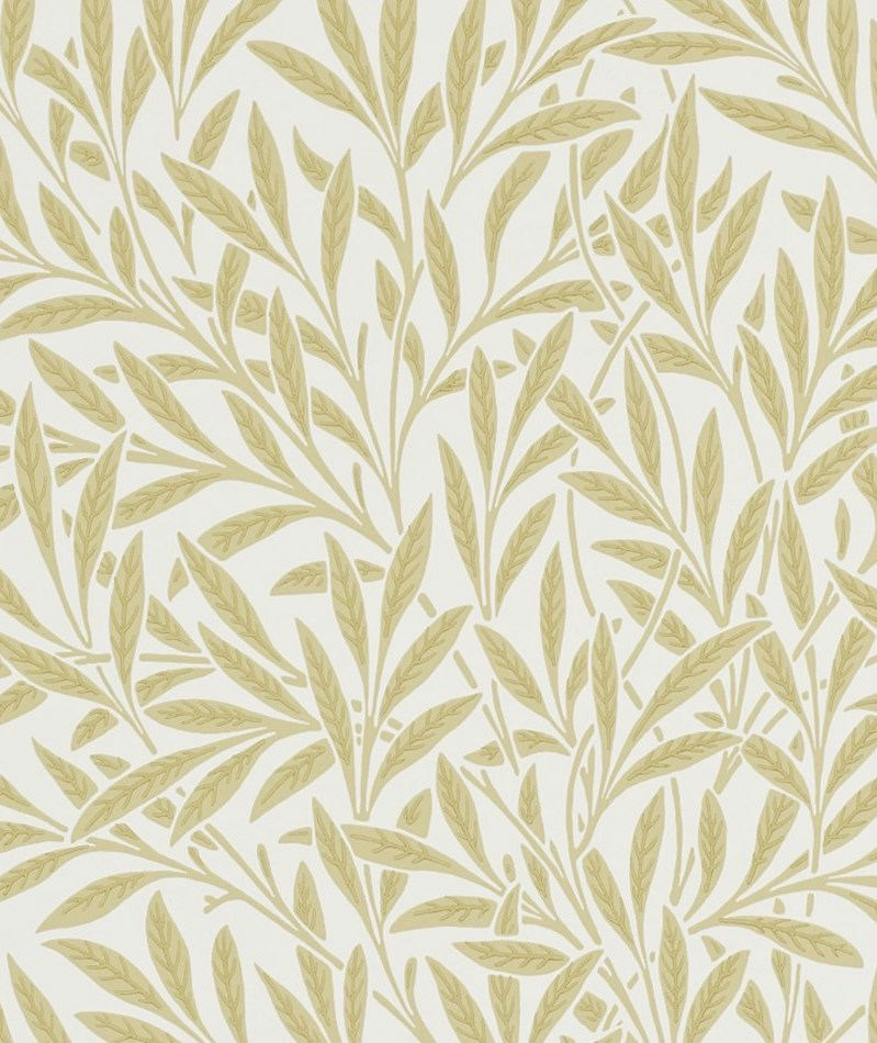 Tienda online telas papel papel pintado hojas de sauce for Papel pintado hojas