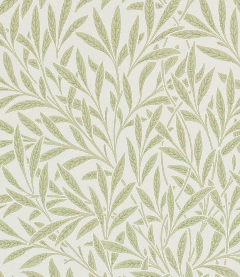 Tienda online telas papel papel pintado hojas de sauce for Papel pintado hojas verdes
