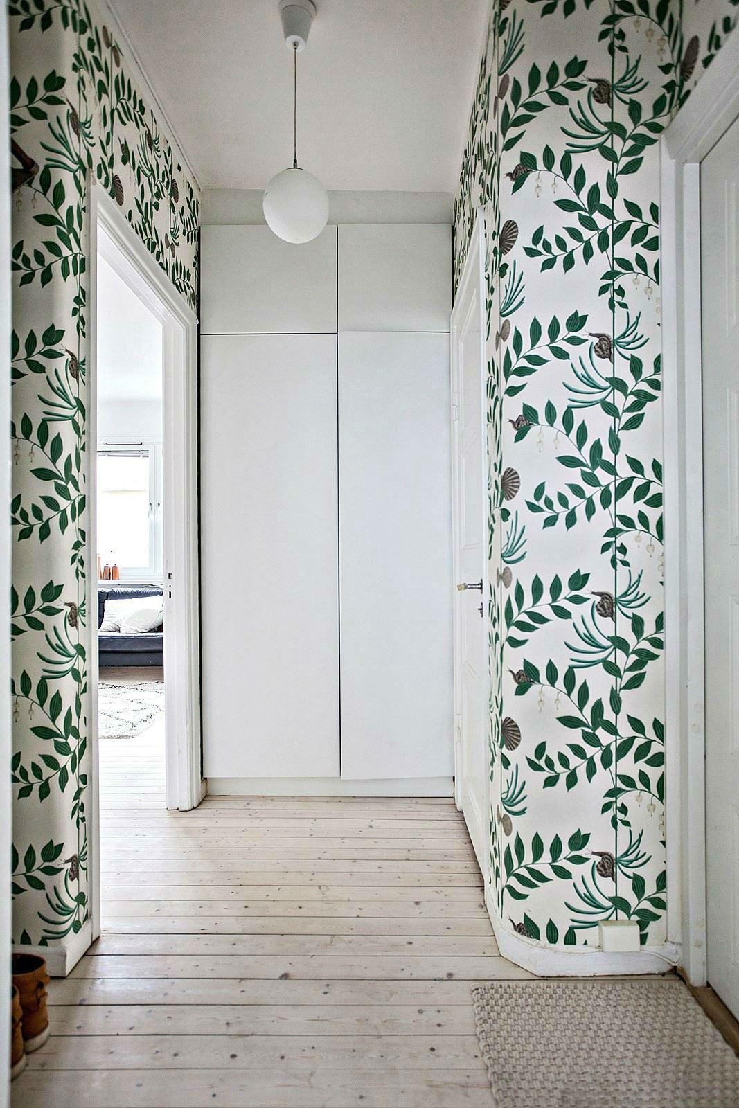 Tienda online telas papel entrada decorada con papel for De que color de papel tapiz para un corredor