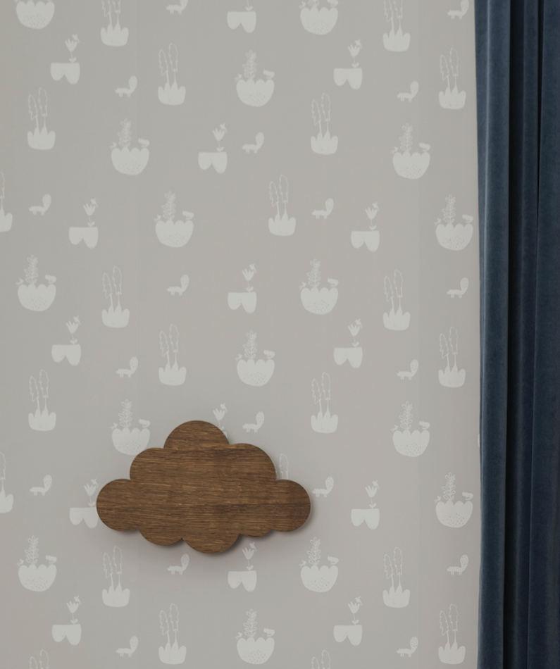 Tienda online telas papel papel pintado paisaje gris for Papel pintado paisajes