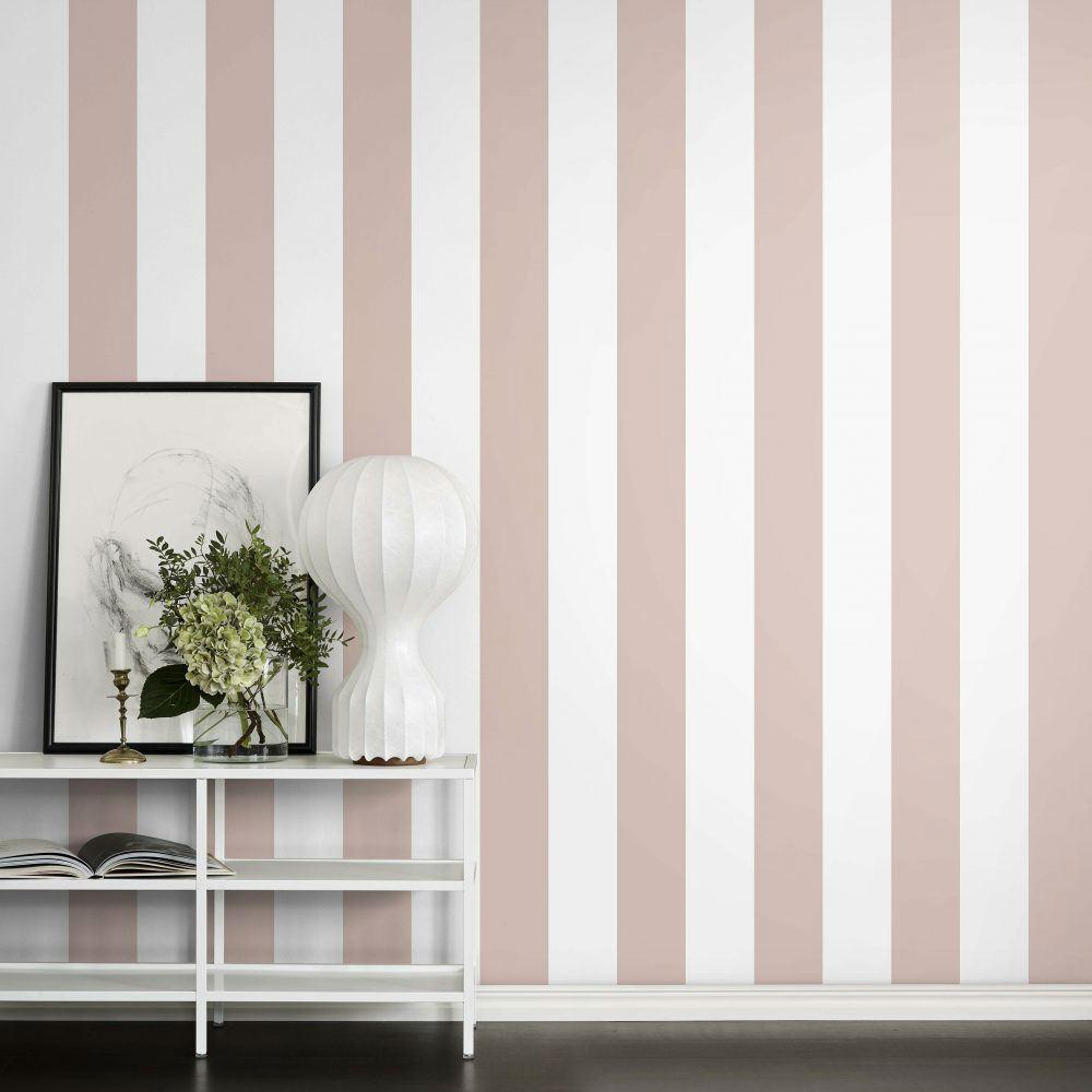 Tienda online telas papel papel pintado con rayas de - Papel pintado antiguo ...