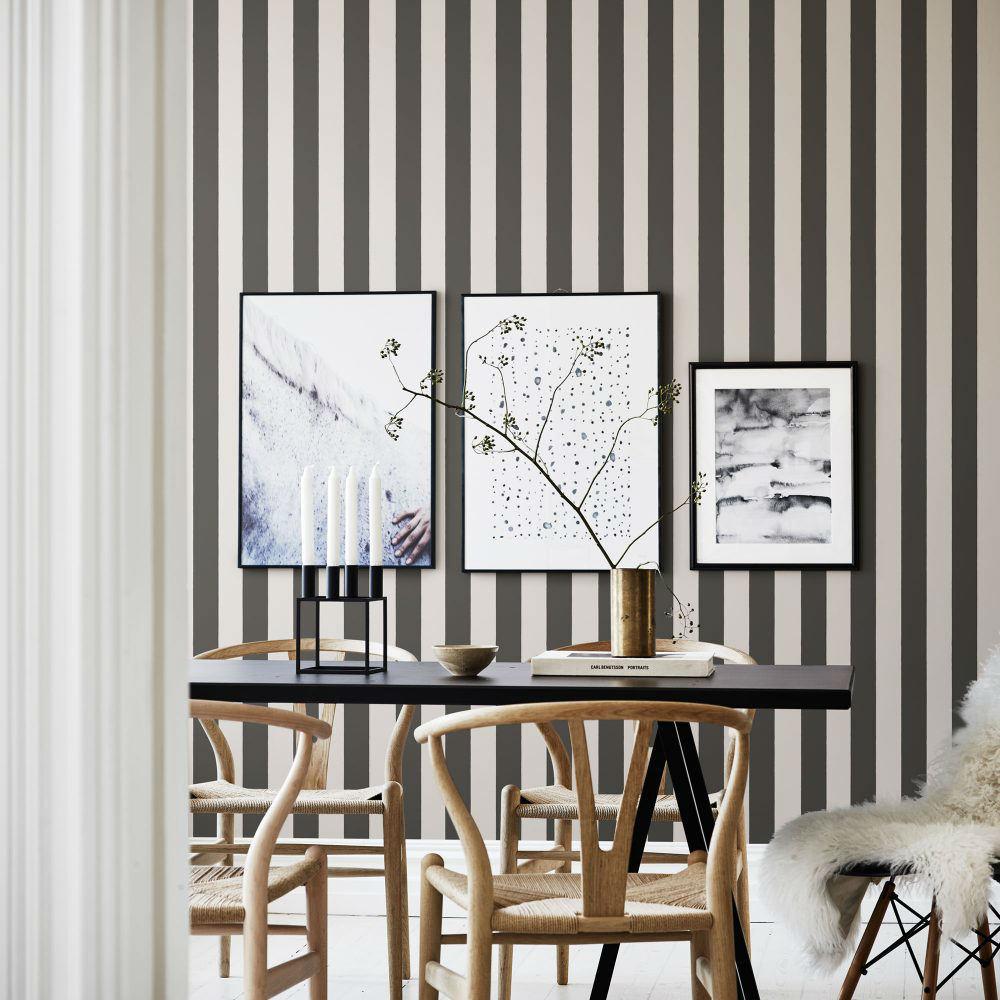 Tienda online telas papel papel pintado con rayas de - Papeles pintados rayas verticales ...