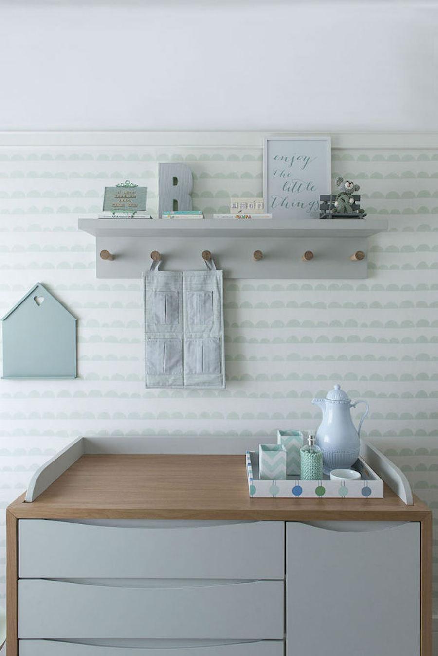 Tienda online telas papel dulce dormitorio de bebe - Papel de rayas para habitacion infantil ...