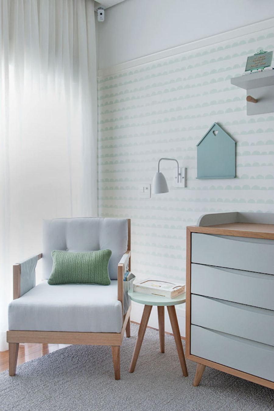 Tienda online telas papel dulce dormitorio de bebe color verde menta - Sillones habitacion bebe ...