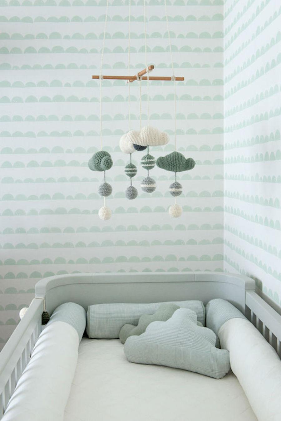 Tienda online telas papel dulce dormitorio de bebe - Color paredes habitacion bebe ...