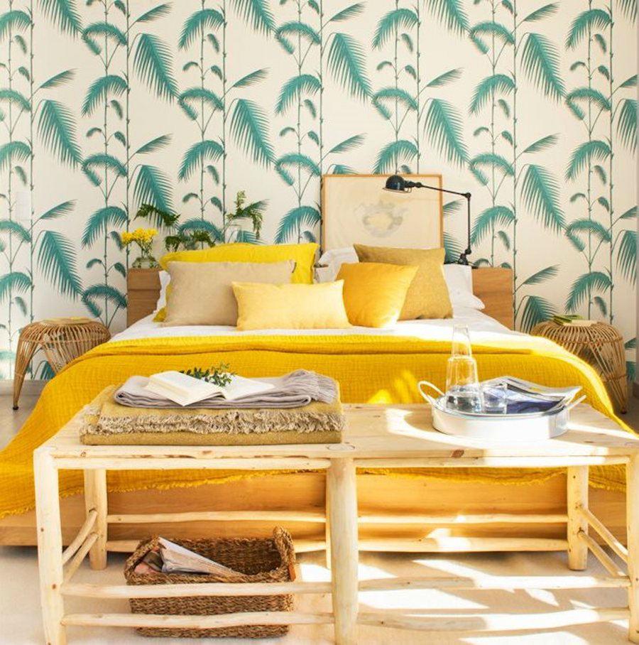 Tienda online telas papel ilumina decorando con amarillos for Tendencias papel pintado 2017