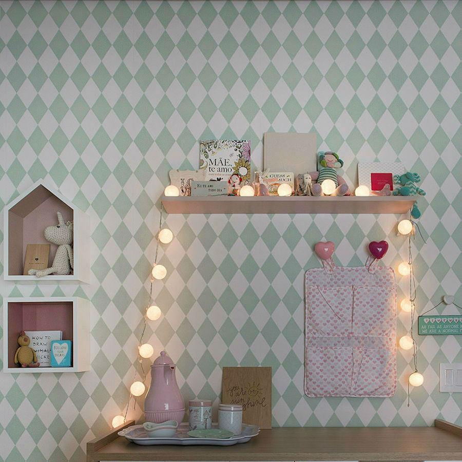 Tienda online telas papel el papel pintado de rombos for Papeles para empapelar dormitorios