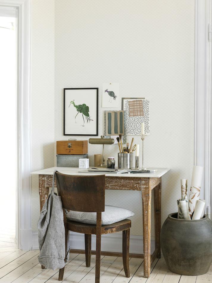 Tienda online telas papel papel pared escamas blanco sucio - Papel pared blanco ...