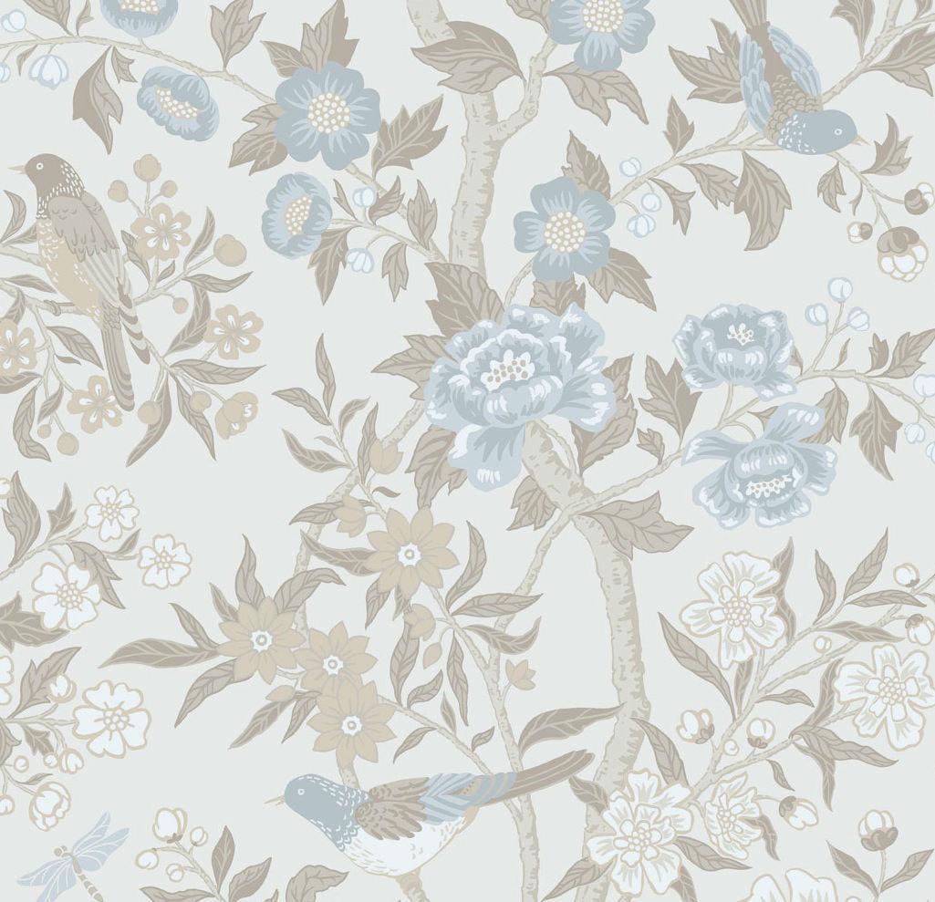 Tienda online telas papel papel pintado flores cretona - Precio papel pintado ...
