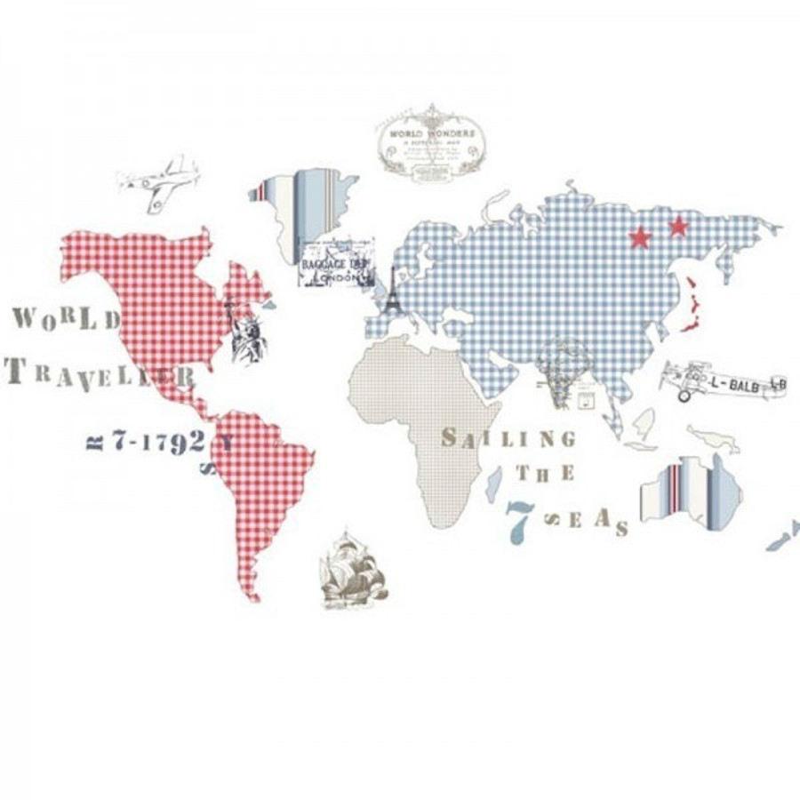 Tienda online telas papel decora la pared con uno de - Papel pintado mapa ...