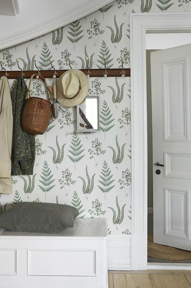 Tienda online telas papel papel pintado helechos verdes - Papel pintado gotele ...
