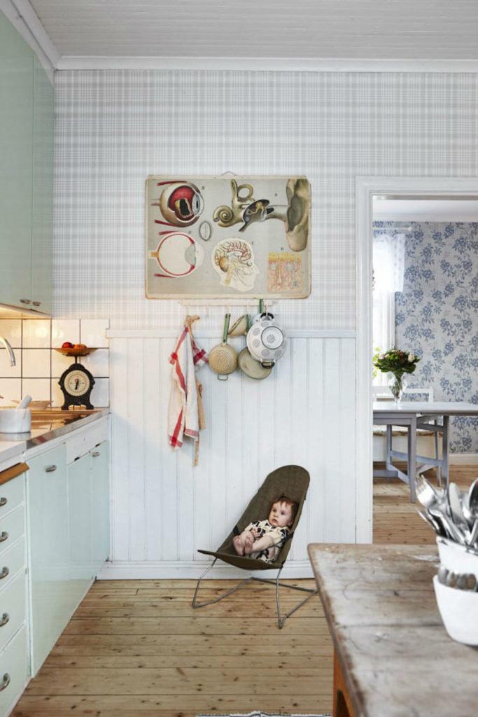 Tienda online telas papel cocinas bonitas con papel for Papel pintado cocina ikea
