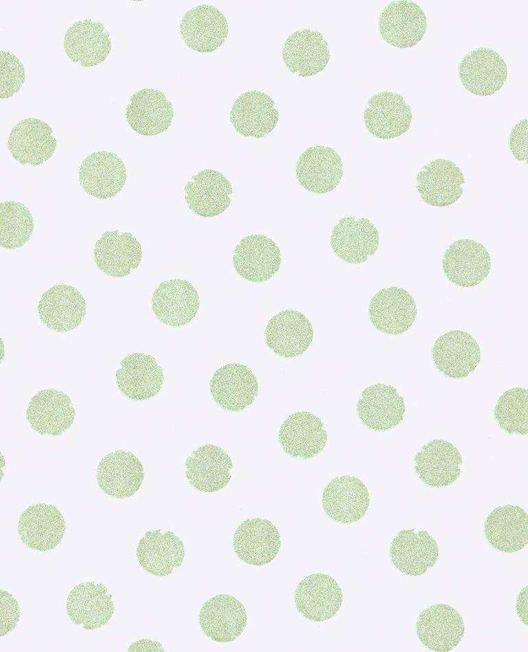 Tienda online telas papel papel lunares purpurina verde for Papel pintado de lunares