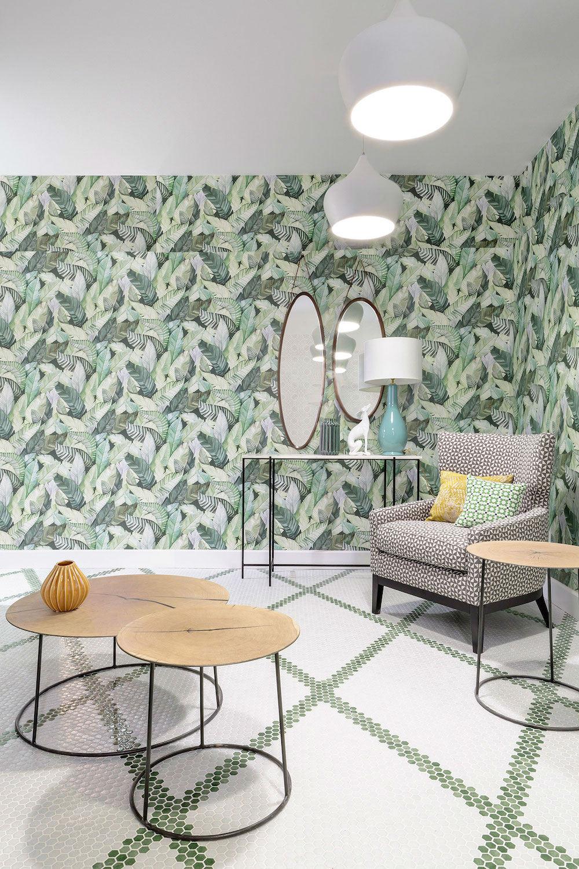 Tienda Online Telas Papel El Papel Pintado Con Hojas De Casa  # Muebles Hoja De Banano