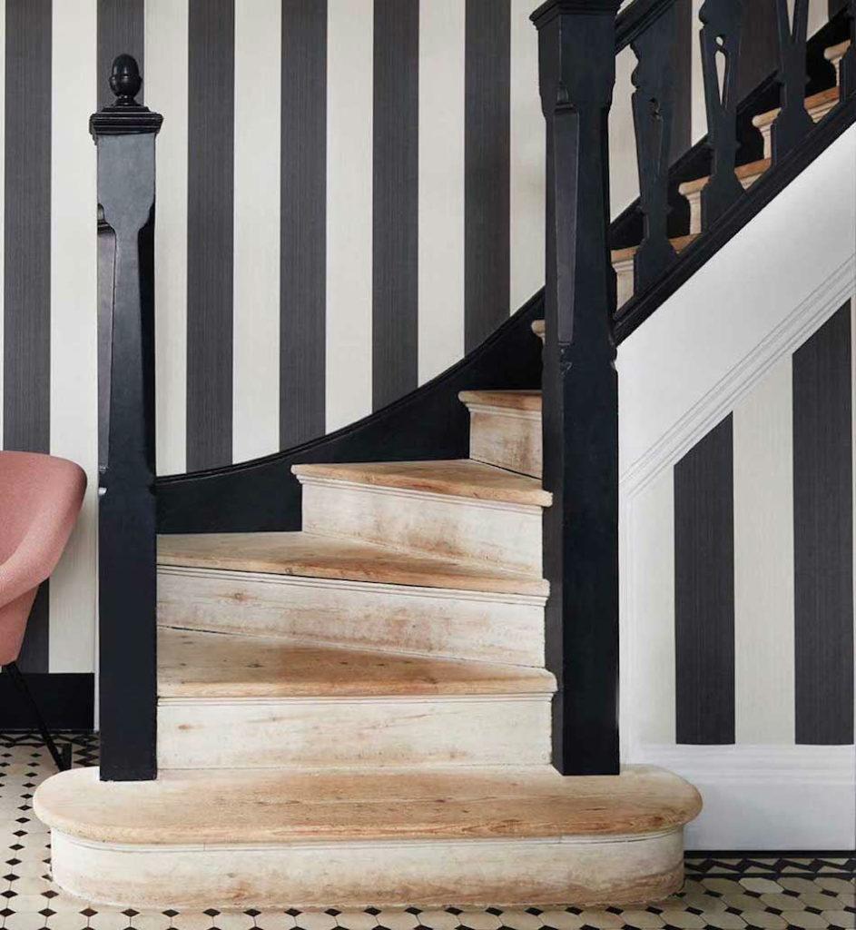 Tienda online telas papel blog for Papel pintado rayas negras y blancas