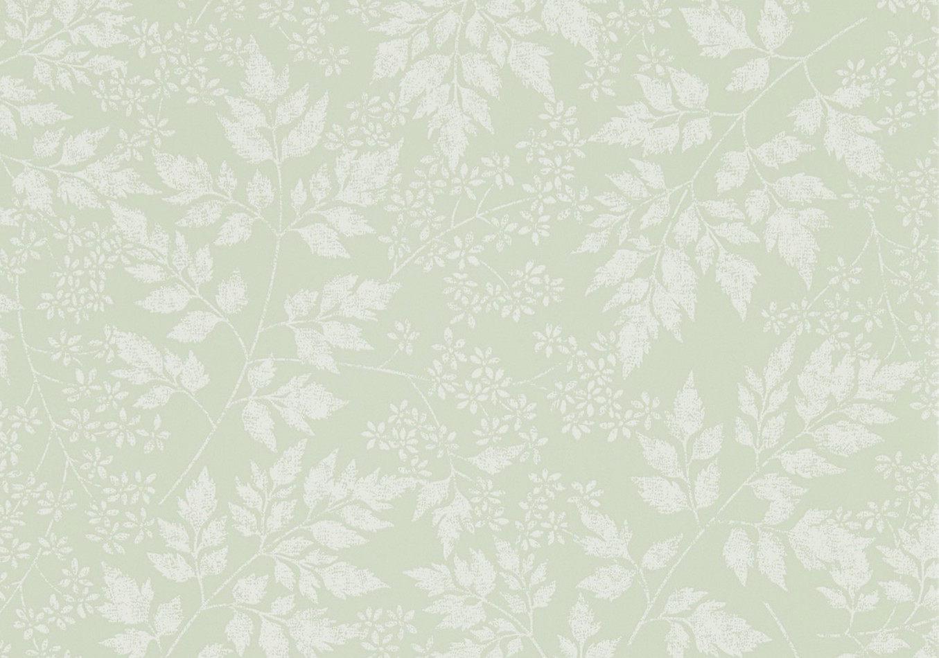 Tienda online telas papel papel pintado jazmin verde - Papel pintado verde ...