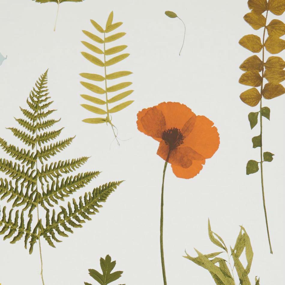 Tienda online telas papel papel pintado herbarium rojo - Papel pintado online ...