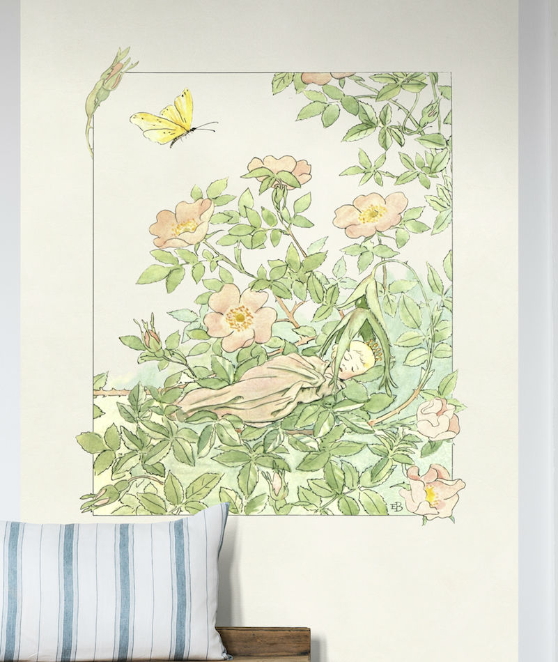 Tienda online telas papel mural infantil sue o de la princesa de las hadas - Papel pintado vintage ...