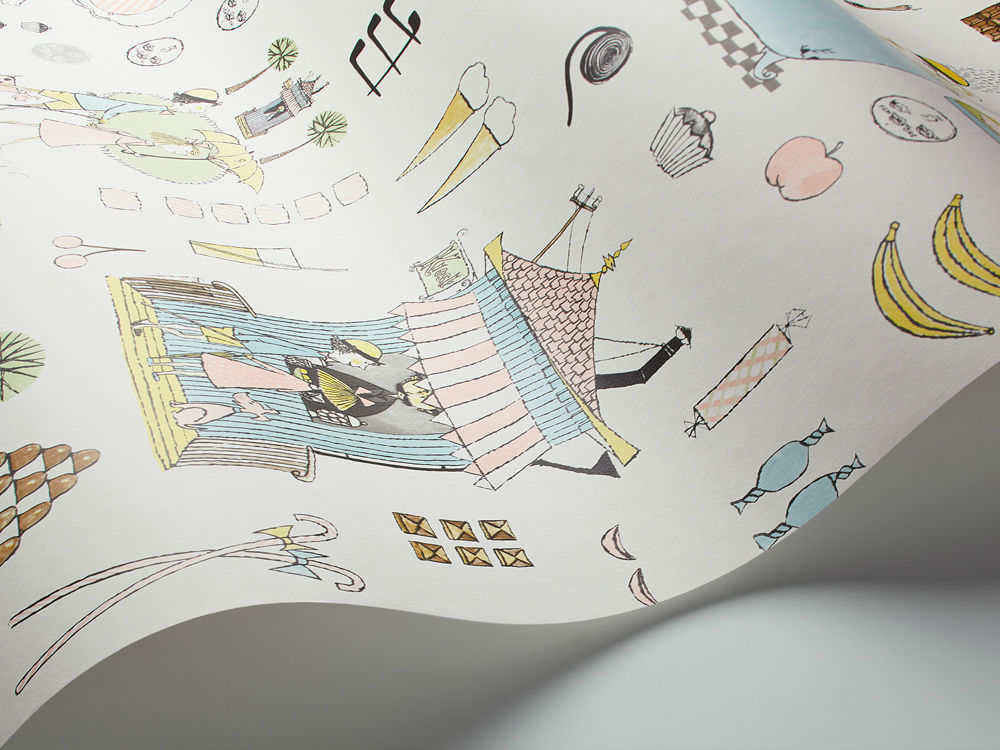 Tienda online telas papel papel pintado ilustraciones for Papel pintado comic