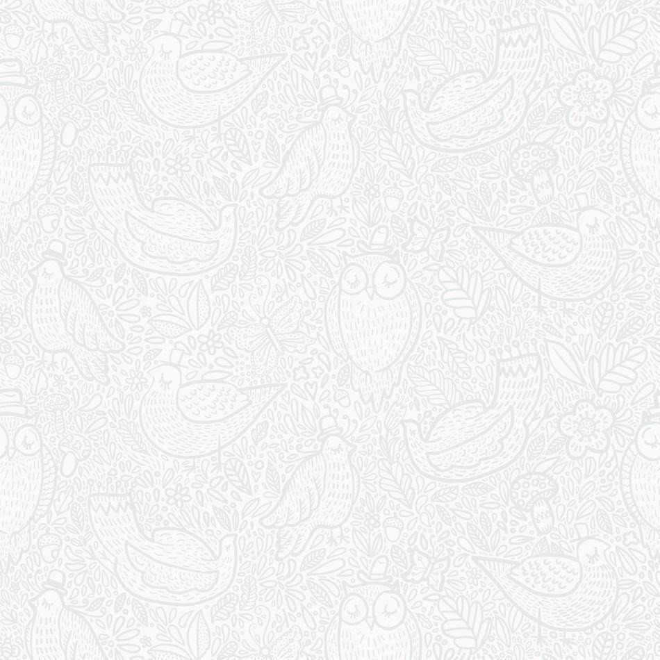 Tienda online telas papel papel pared buhitos grises - Papel pared gris ...
