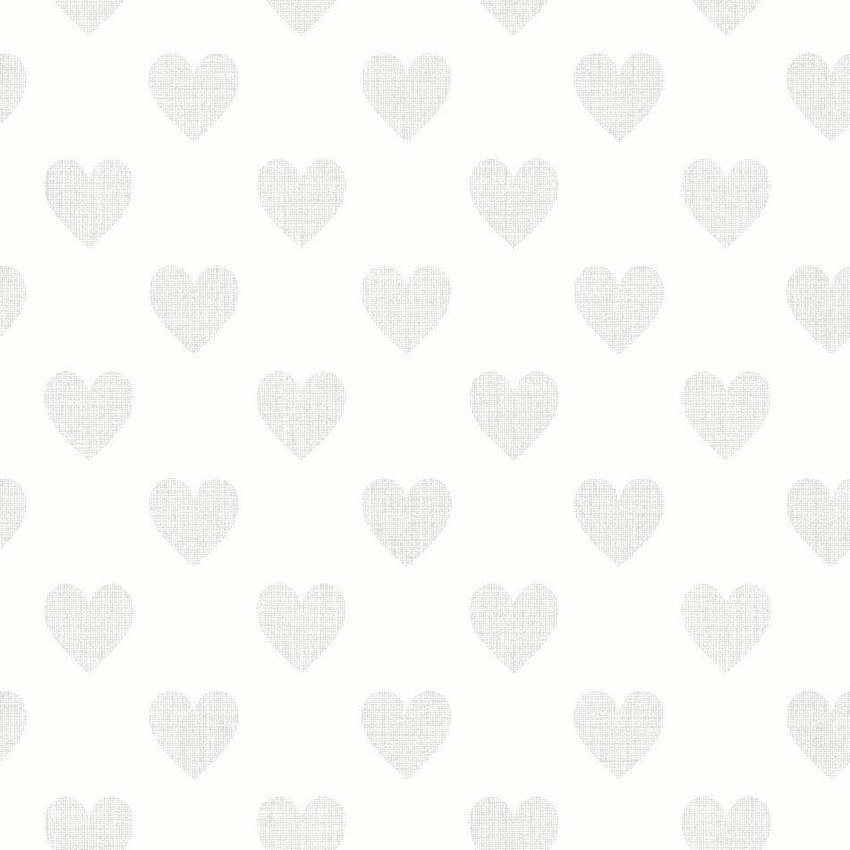 Tienda online telas papel papel pared corazones grises - Papel pared online ...