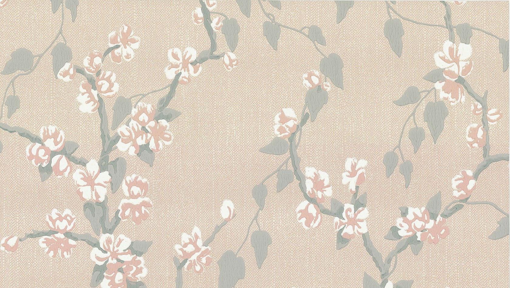 Tienda online telas papel papel pintado flor de for Papel pintado de lunares