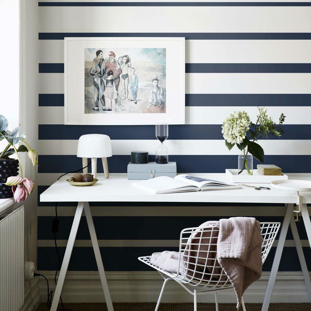 Tienda online telas papel papel rayas horizontales Paredes decoradas con fotos