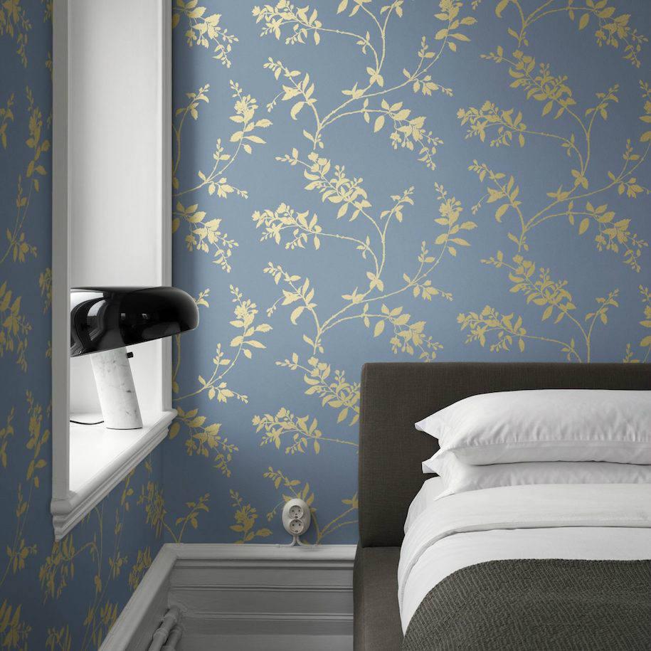 Tienda online telas papel papel flores celindo azul - Catalogo papel paredes ...