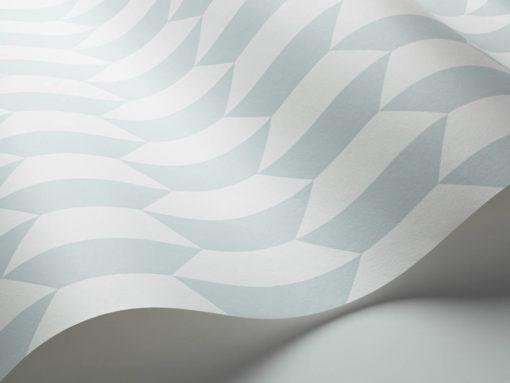 Tienda online telas papel papel peque os azulejos azules for Papel pintado de los 70